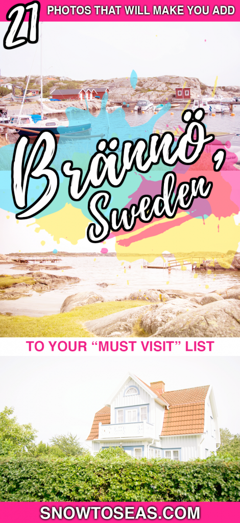 Brännö Sweden Pin
