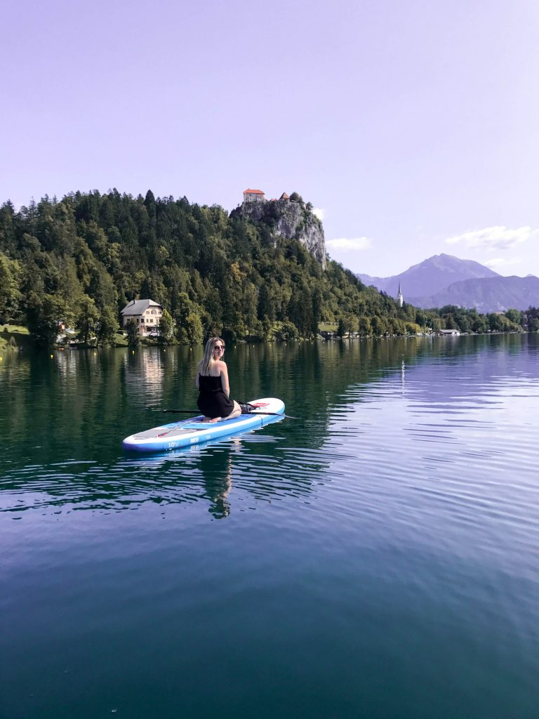 SUP on Lake Bled