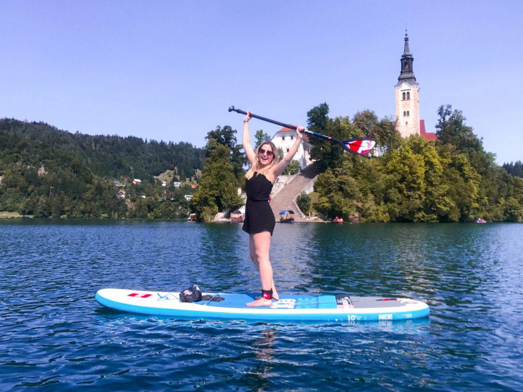 SUP on Lake Bled