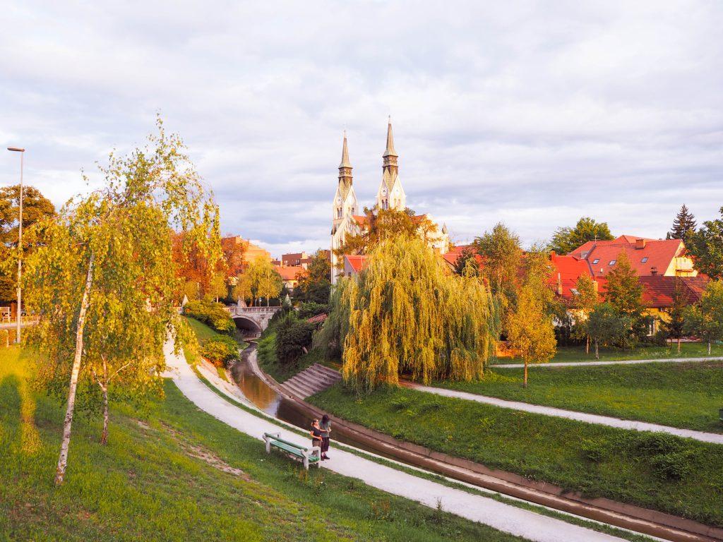 Canal by Gradaška Ulica Ljubljana