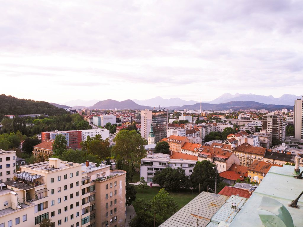 View from the Skyscraper Ljubljana