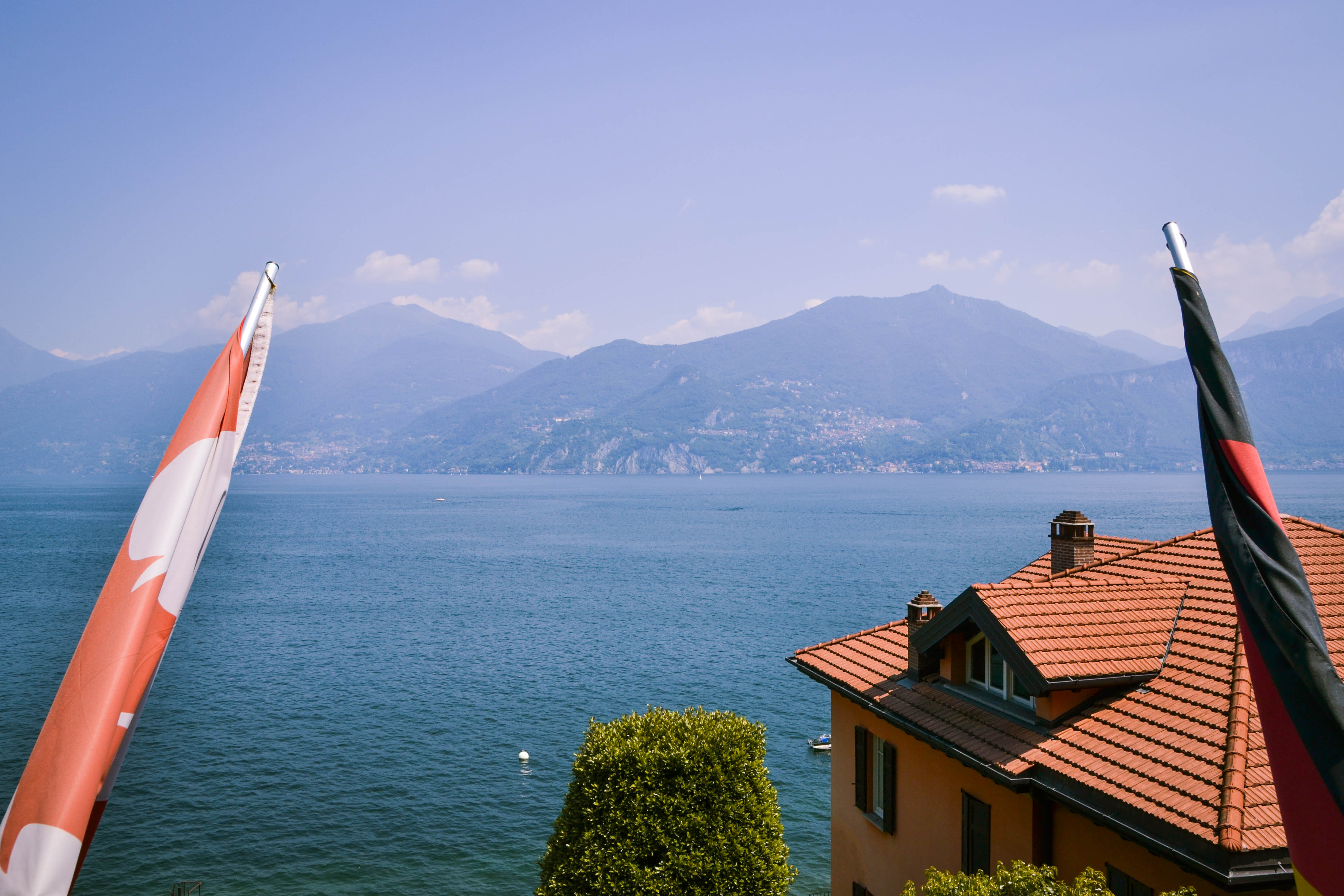 View over Lake Como from the Lake Como Hostel