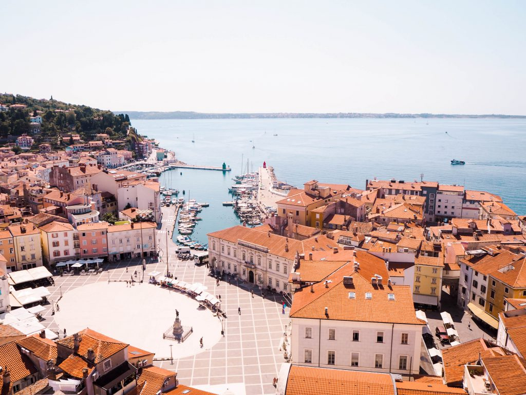 View from the Bell Tower at St. George's Church in Piran