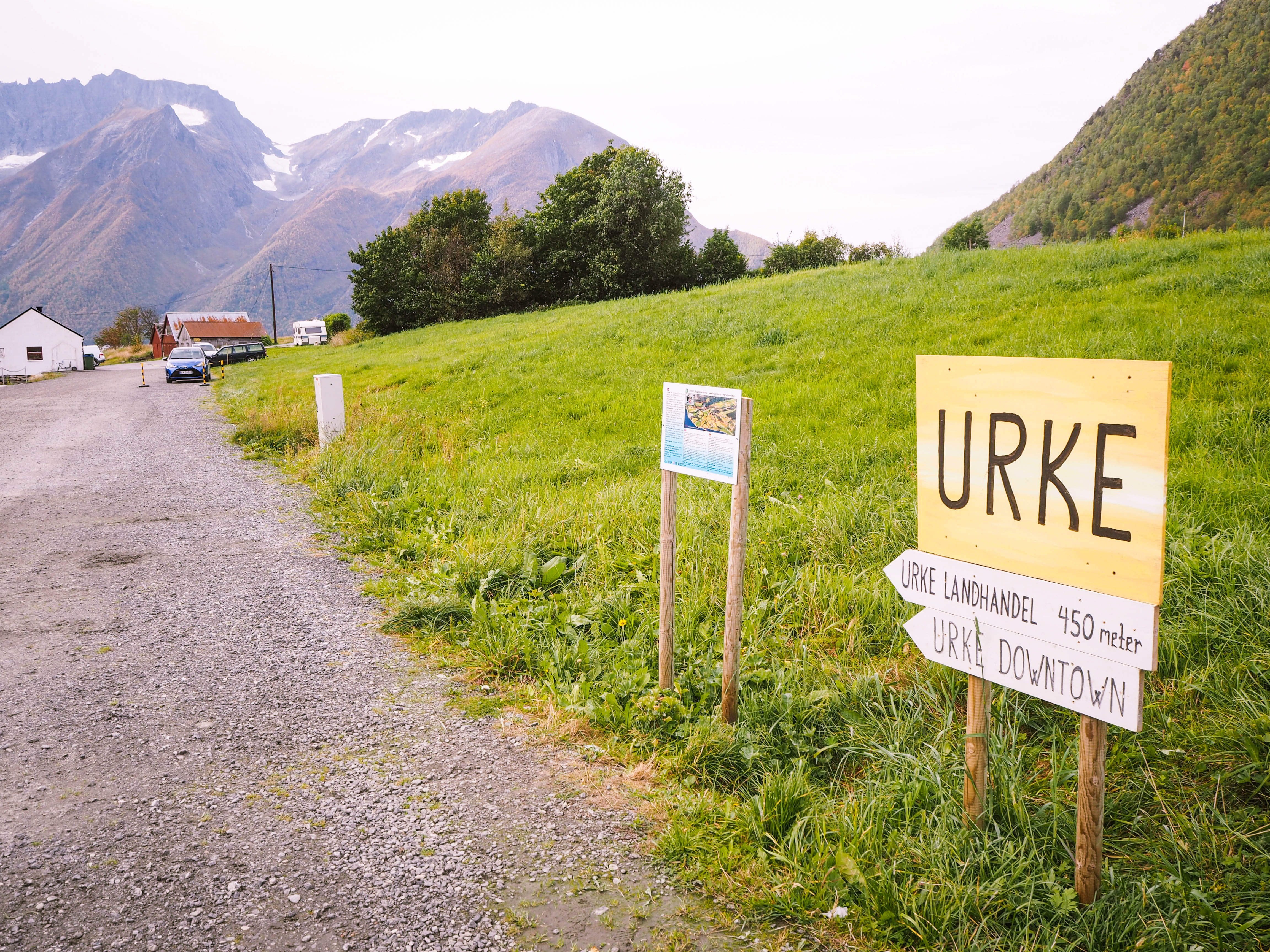 Urke, Norway Village Sign