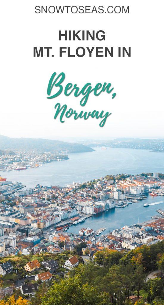 Hiking in Bergen Norway Pinterest Pin