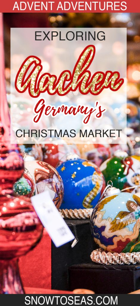 Aachen Germany Christmas Market PIn
