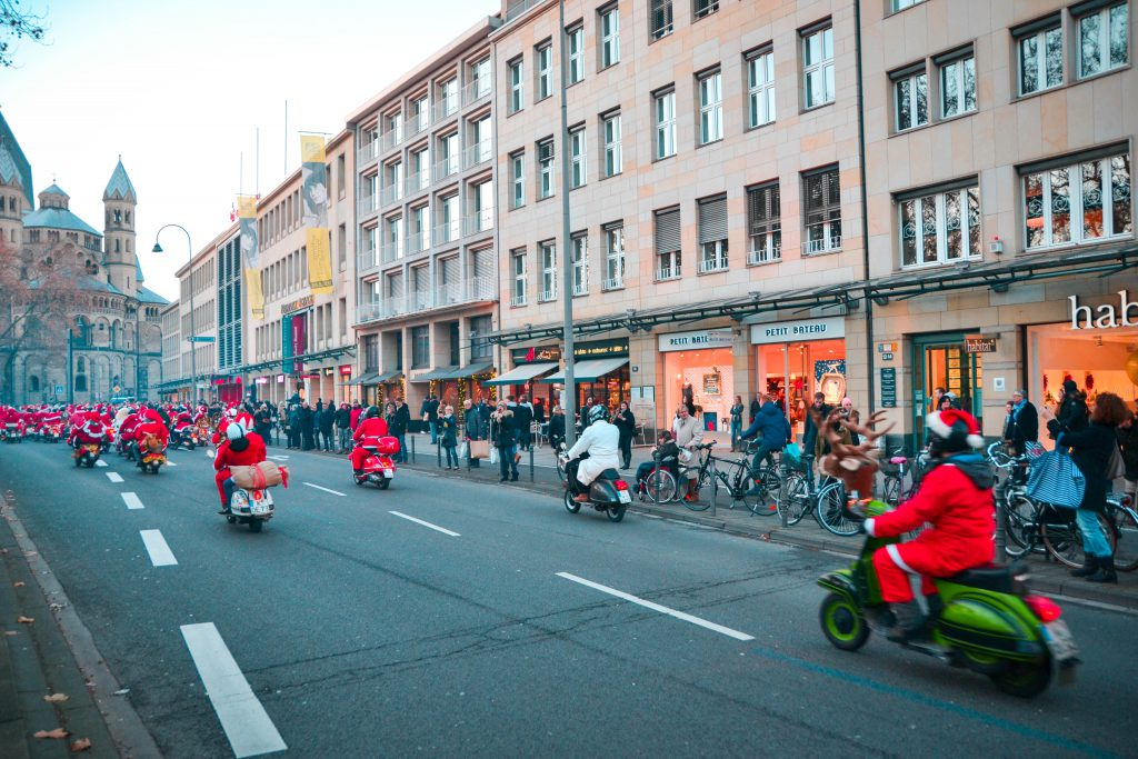 Santas on Motorcycles, Cologne, Germany
