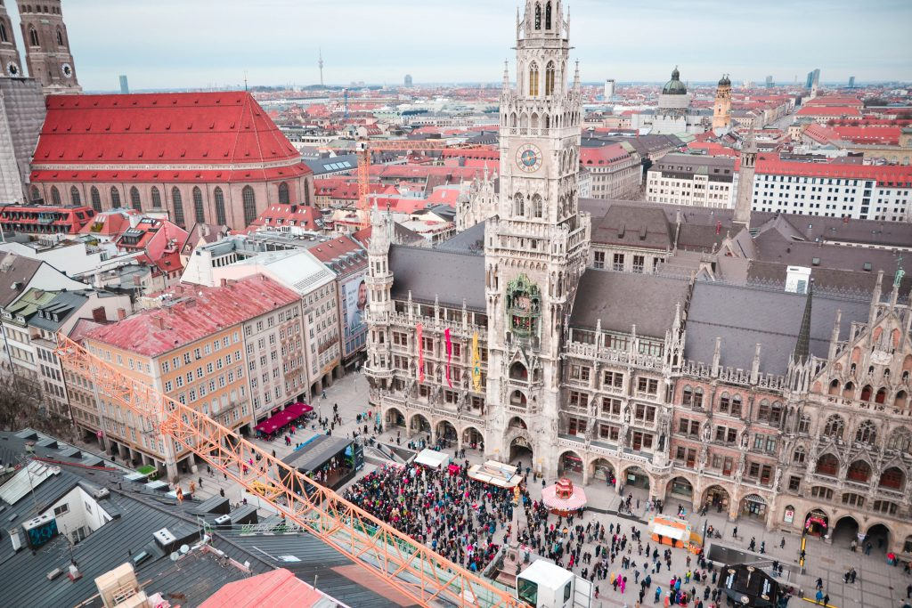 Marienplatz During Fasching in Munich, Germany