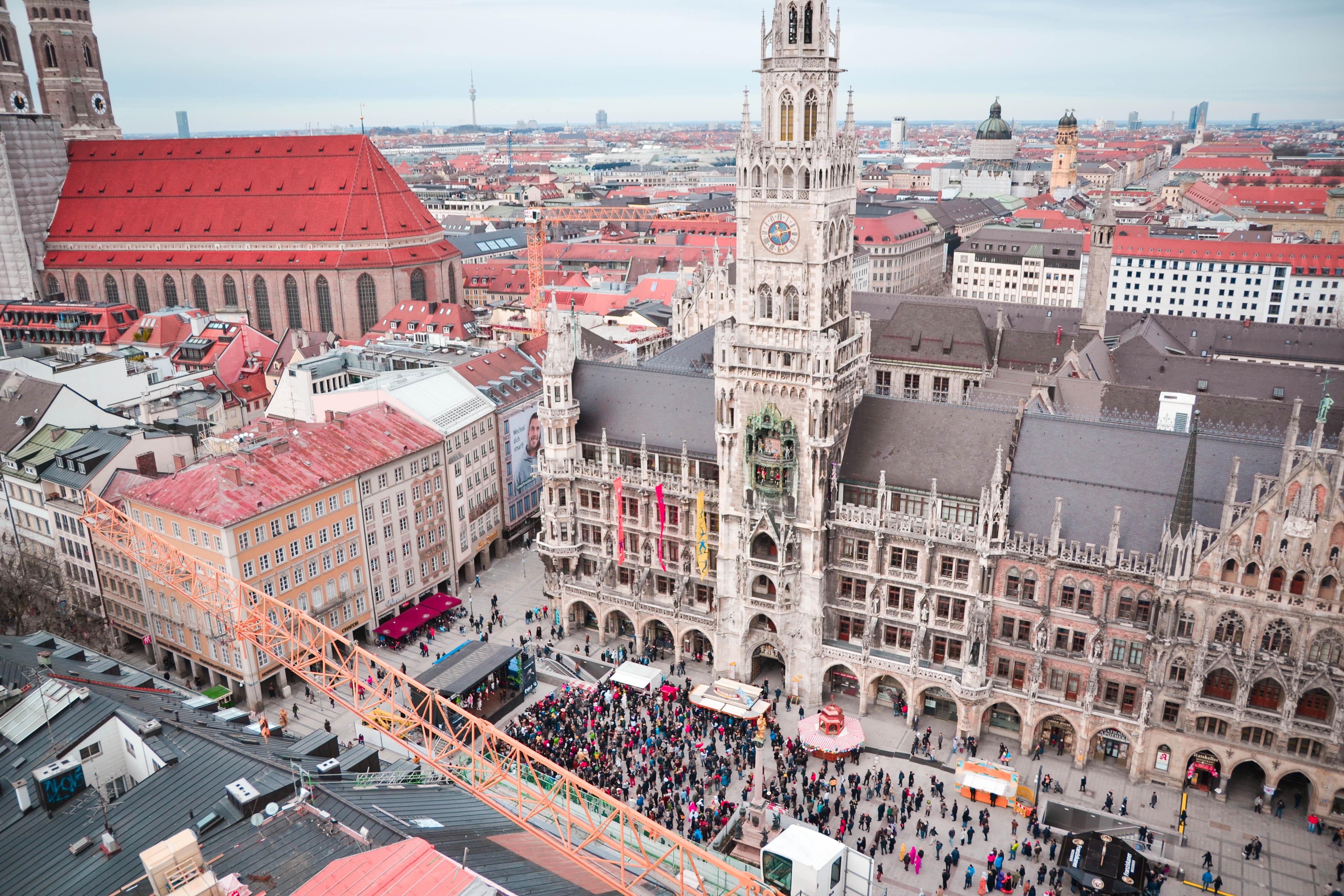 Marienplatz During Fasching in Munich, Germany