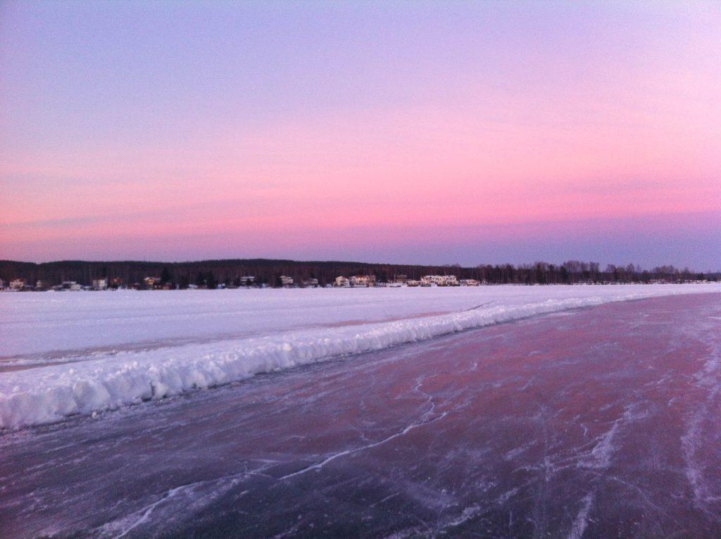 Frozen Lake Runn, Sweden