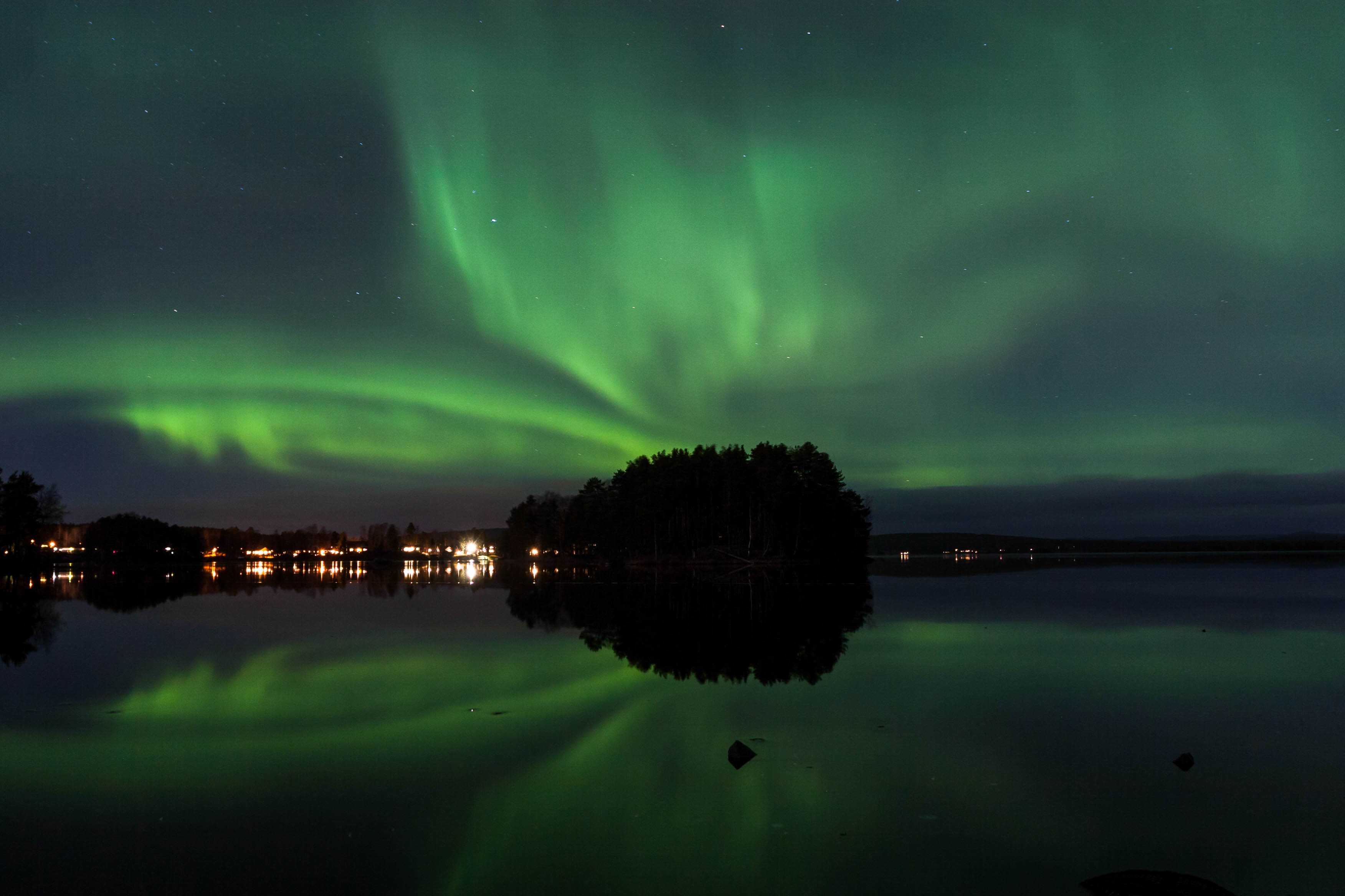 Northern Lights in Falun, Sweden
