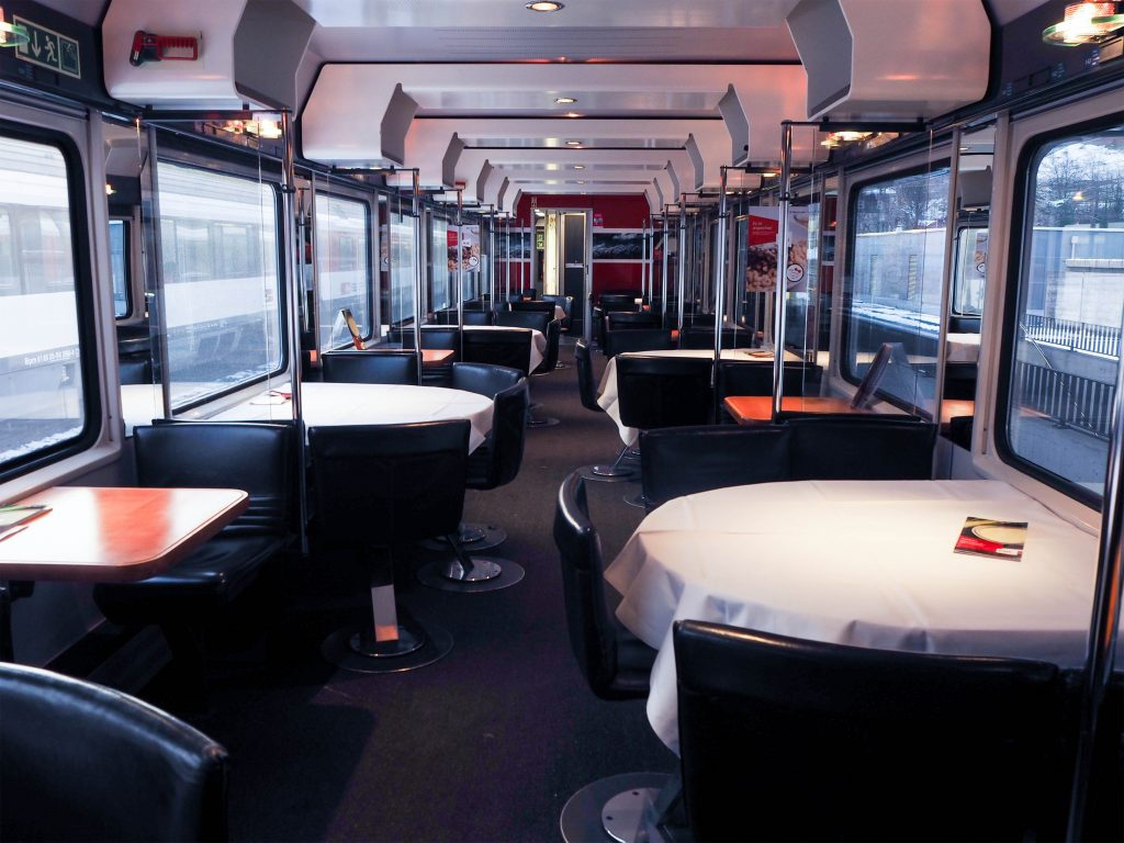 Inside SBB Train