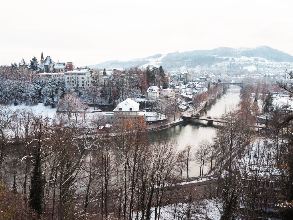 View from Kirchenfeldbrücke in Bern, Switzerland