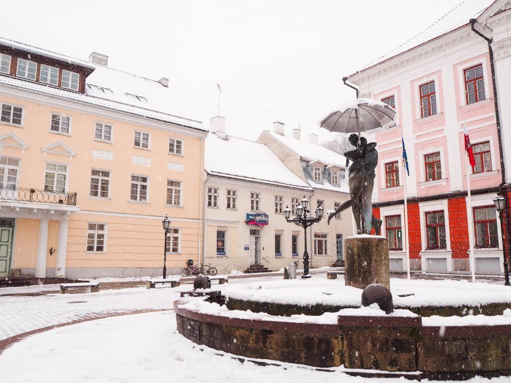 Downtown Tartu Estonia