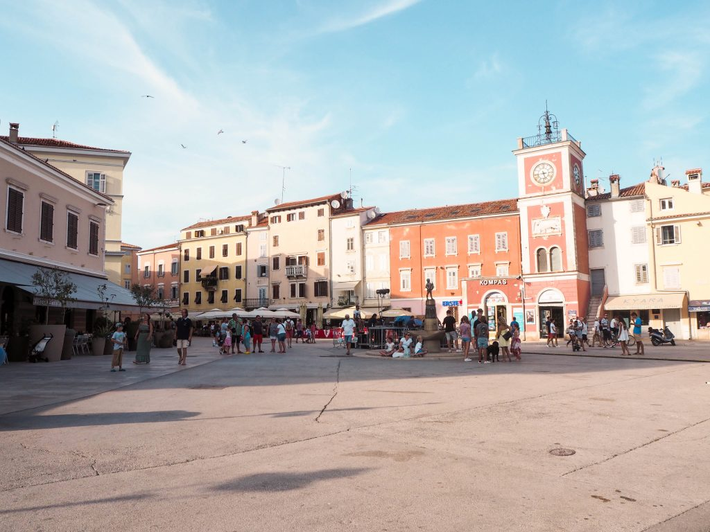 Town Clock in Rovinj, Croatia