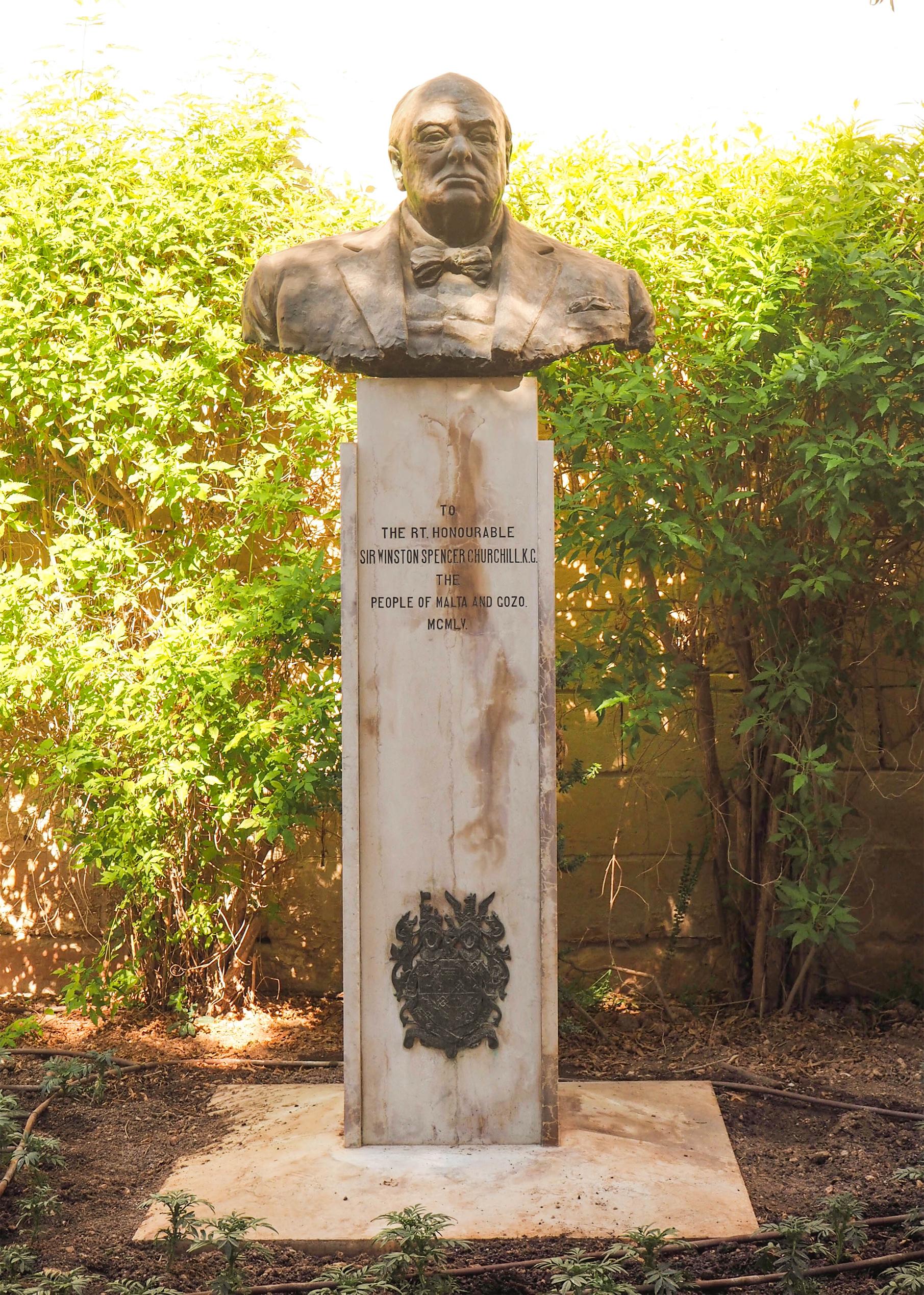 Winston Churchill Statue, Valletta, Malta