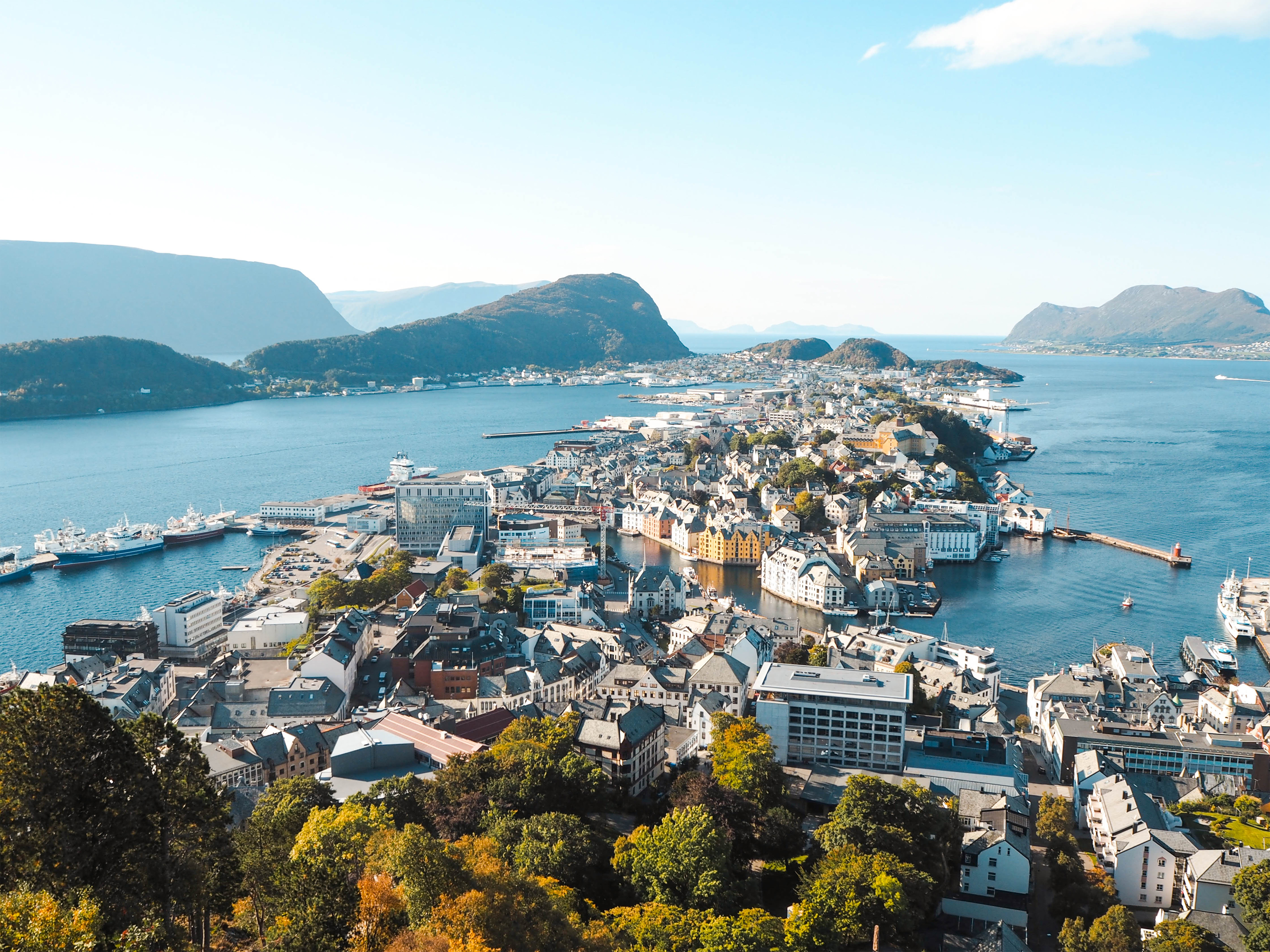 Ålesund, Norway Bird's-Eye View