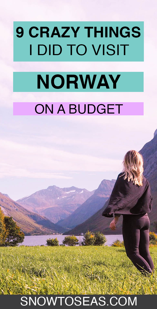 Norway on a Budget Pin