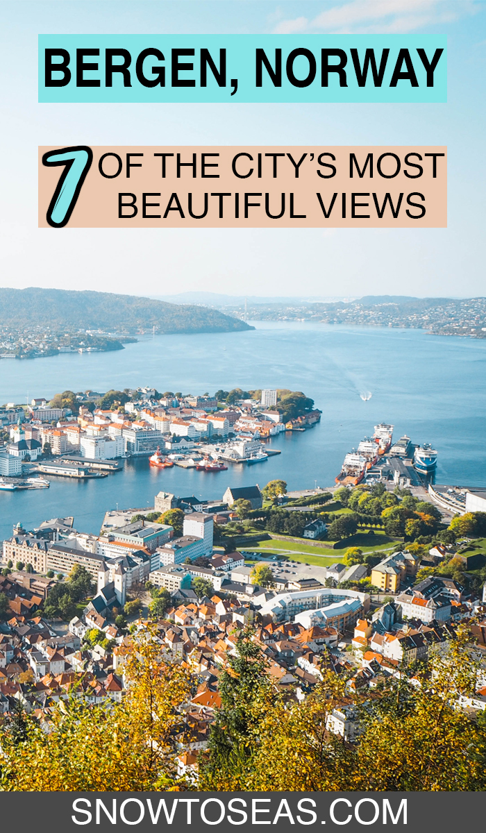 Best Views in Bergen, Norway Pin