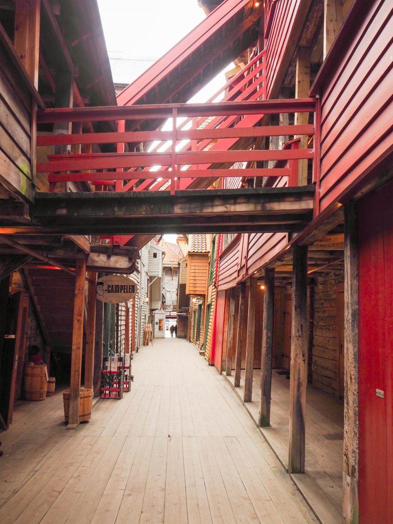 Inside Bryggen, Bergen, Norway