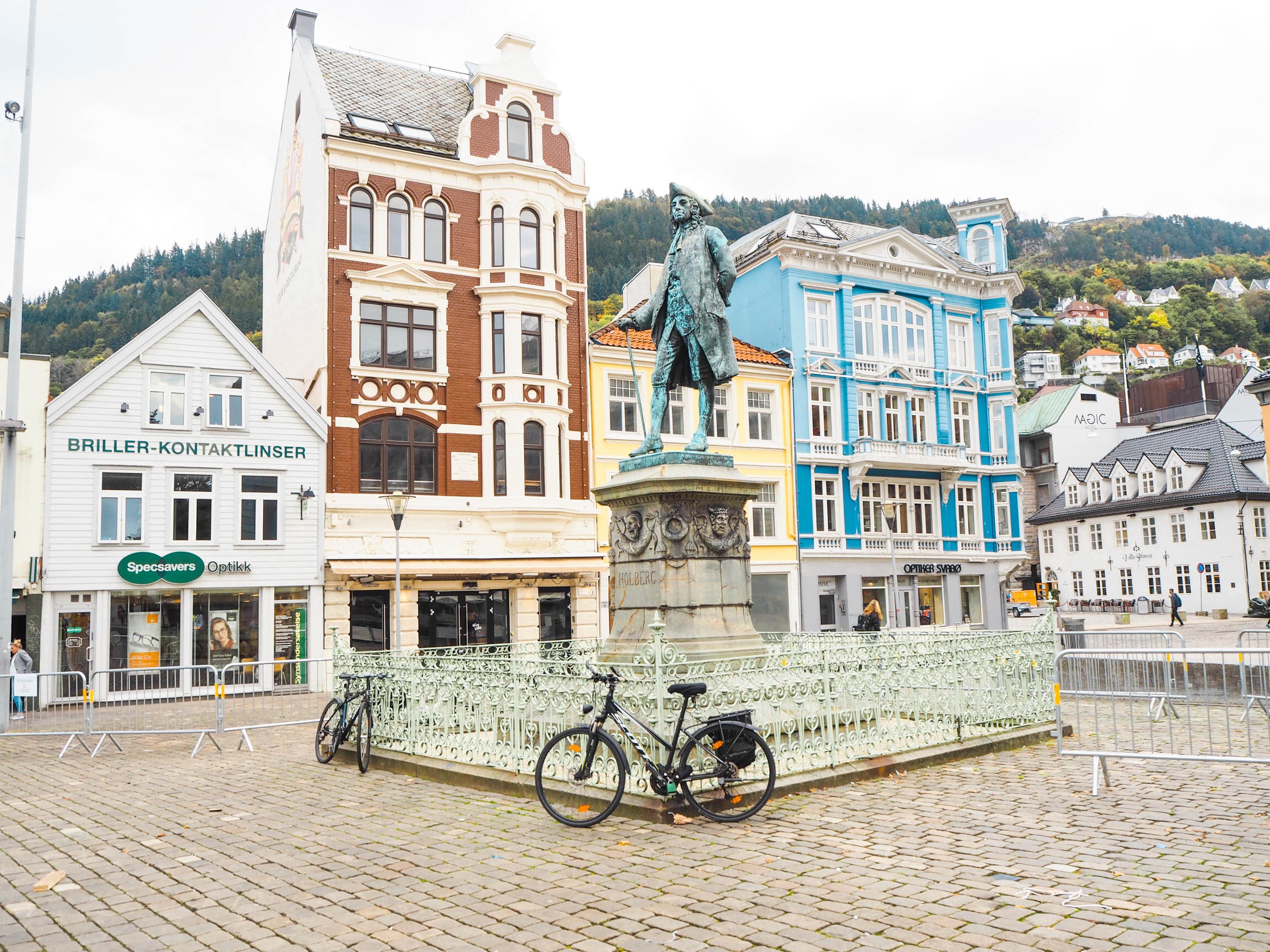 Ludvig Holberg Statue, Bergen, Norway