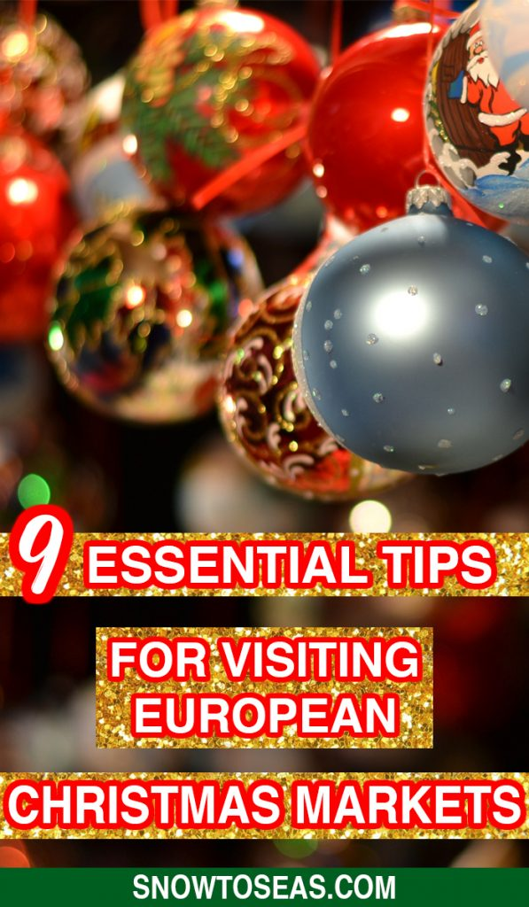 Tips for Visiting Christmas Markets in Europe Pin