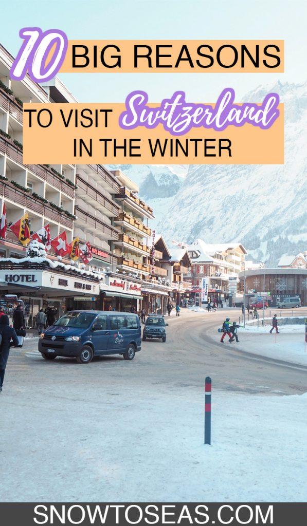 Visit Switzerland in Winter Pin