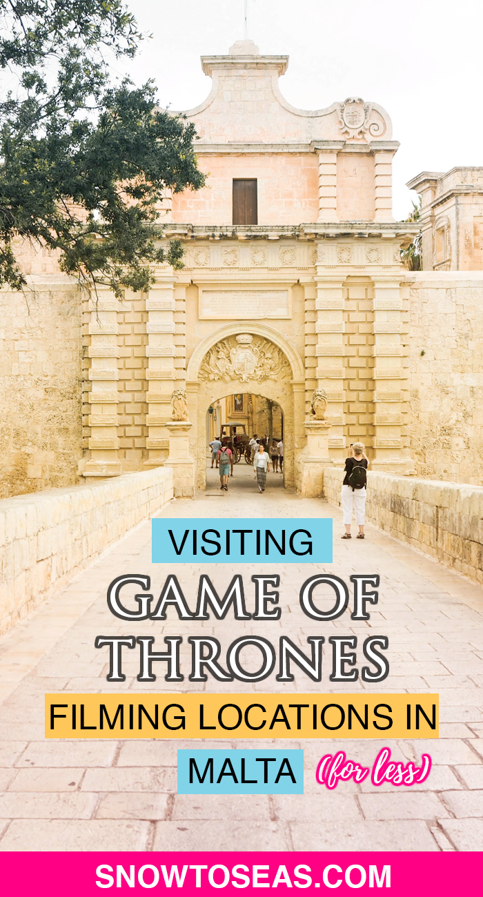 Visiting Game of Thrones Filming Locations in Malta Pin