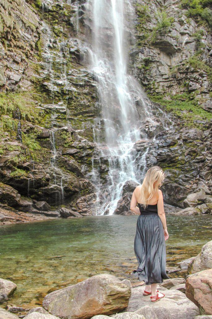 La Froda Waterfall, Verzasca Valley, Ticino, Switzerland