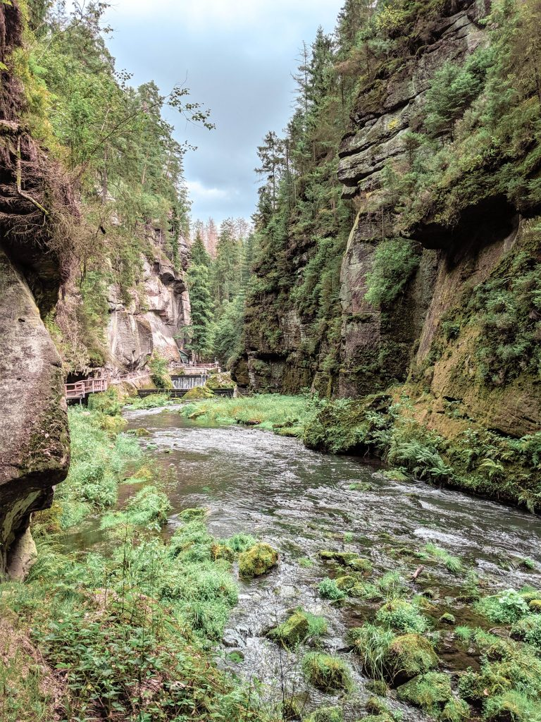 The Silent Gorge, Bohemian Switzerland, National Park, Czechia