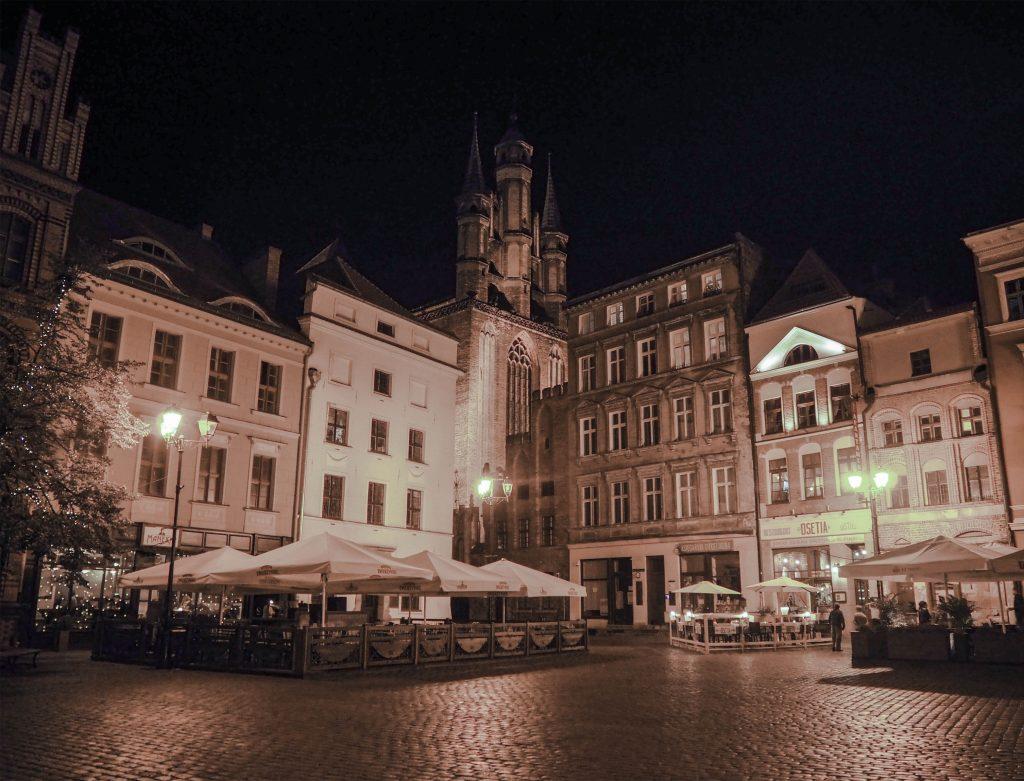 Torun, Poland Rynek Staromiejski w nocy