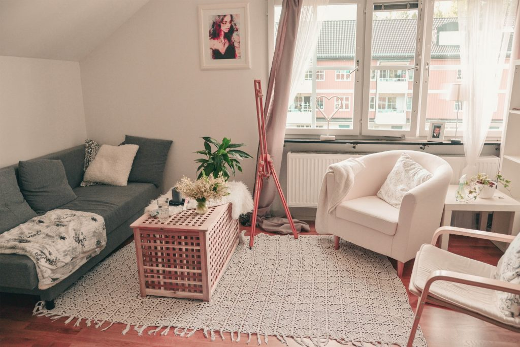 Scandinavian interior living room